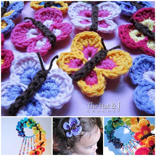 Crochet butterfly free pattern wonderfuldiy Easy to Make Crochet Queen Butterfly With Video Tutorial