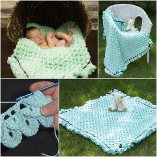 Cute and Cozy Crochet Crocodile Stich Baby Blanket