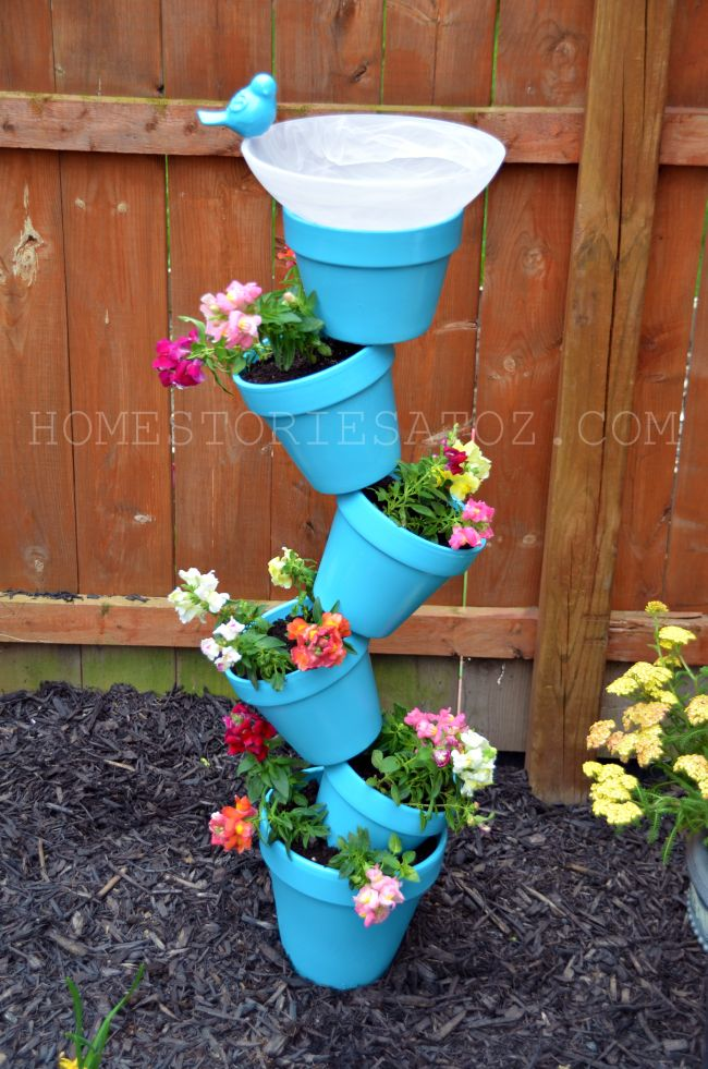 DIY Vertical Planter Pots