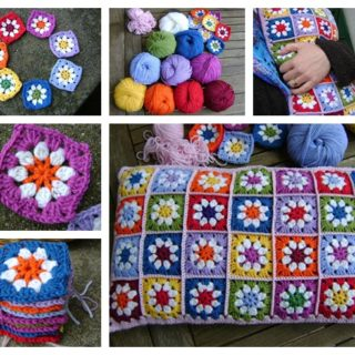 Wonderful DIY Crochet Daisy Flower Square with Free Pattern