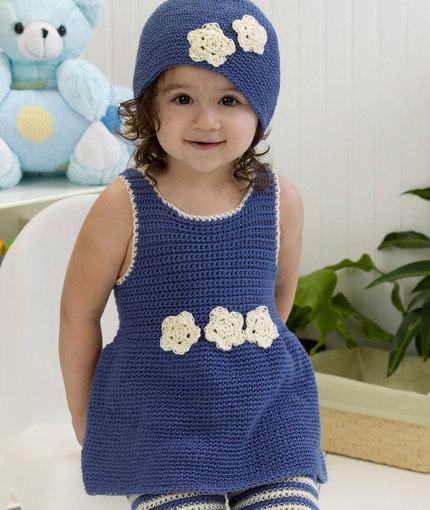 Darling One-Piece Romper & Hat Crochet Pattern-wonderfuldiy