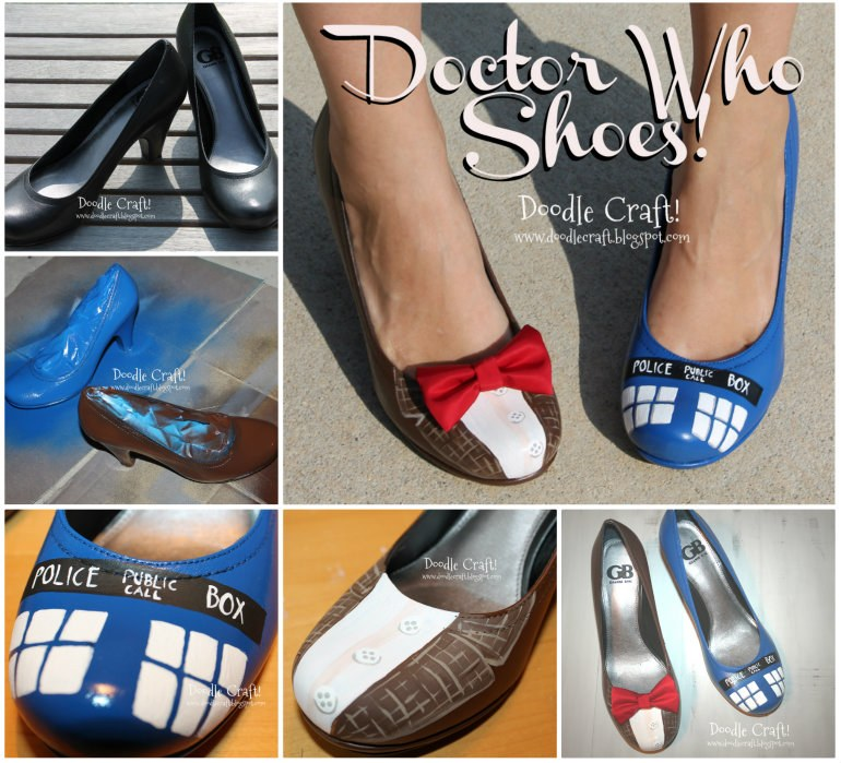Dr Who Shoes  Wonderful DIY Unique Comic Book Shoes
