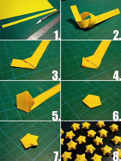 Folded Lucky Paper Star wonderfuldiy1 Wonderful DIY Folded  Lucky Paper Star