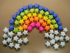 Folded  Lucky Paper Star-wonderfuldiy3