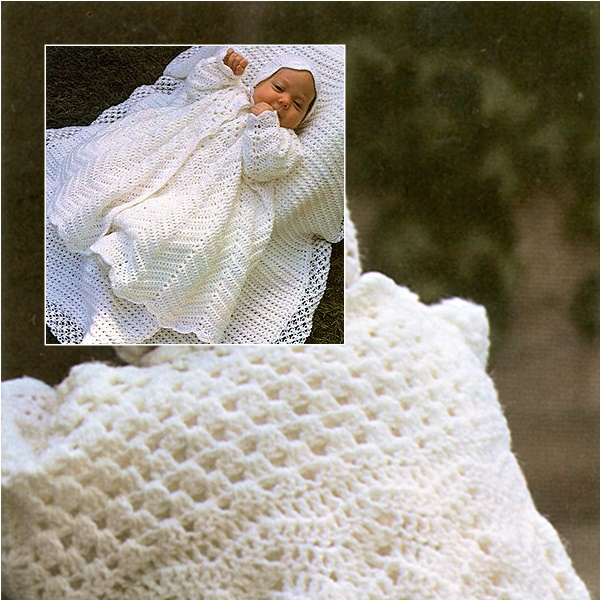Free Christening Coat & Bonnet Crochet Patterns-wonderfuldiy