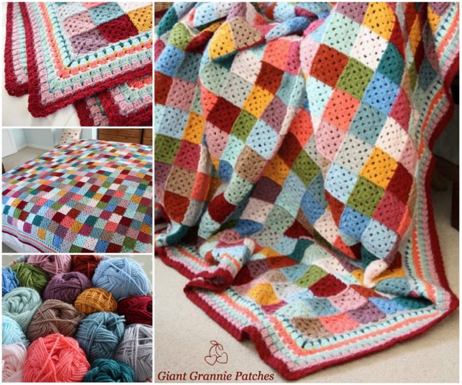 Rainbow Crochet Blanket Attic 24