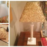 Wonderful DIY Gold Sequin Lamp Shade