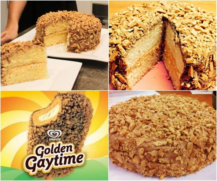 Golden Gaytime Cake wonderfuldiy Wonderful DIY Golden Gaytime Cake