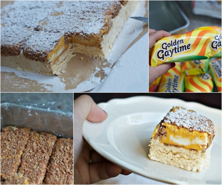 Golden Gaytime Icecream Cake wonderfuldiy Wonderful DIY Golden Gaytime Cake