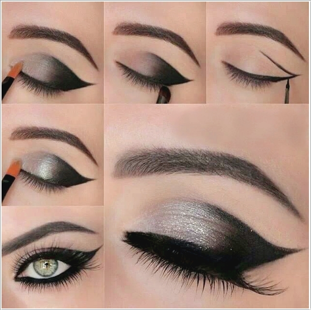Gray Smokey Eye Makeup Wonderful DIY Beautiful Butterfly Nail Art