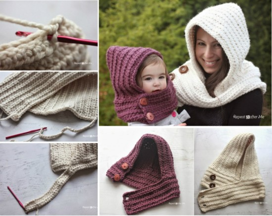 Hooded Cowel Free Pattern wonderfuldiy Wonderful DIY Crochet Hooded  Cowl with Free Pattern