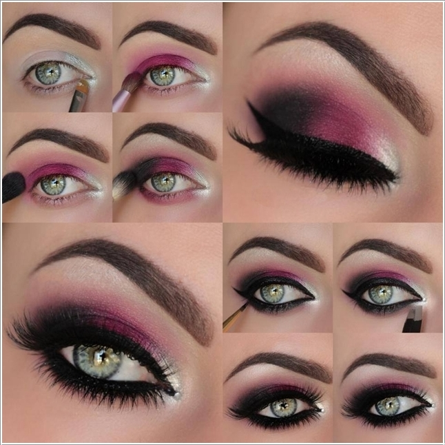 Hot-Pink-Smokey-Eye-Makeup-wonderful diy1