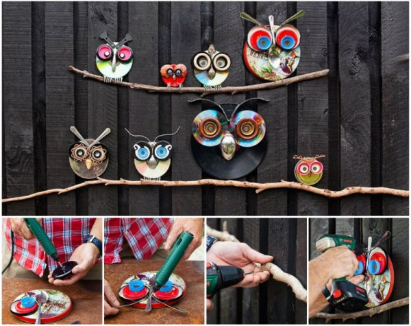 How To Make Recycled LID Owl Art wonderfuldiy Wonderful DIY Recycled Lid Owls