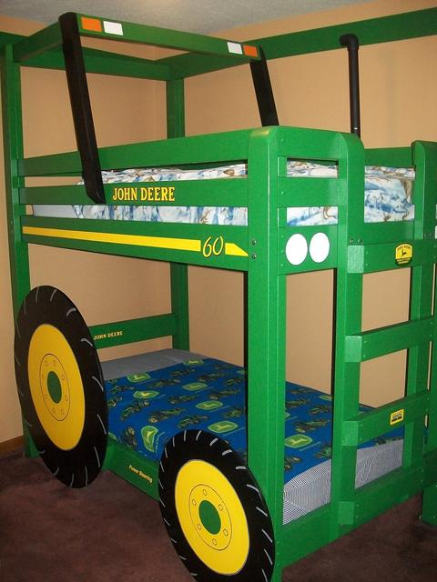 John DEERE tractor WONDERFULDIY Tractor Bunk Bed for Boys