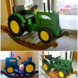 Incredible DIY John Deer Rocking Tractor
