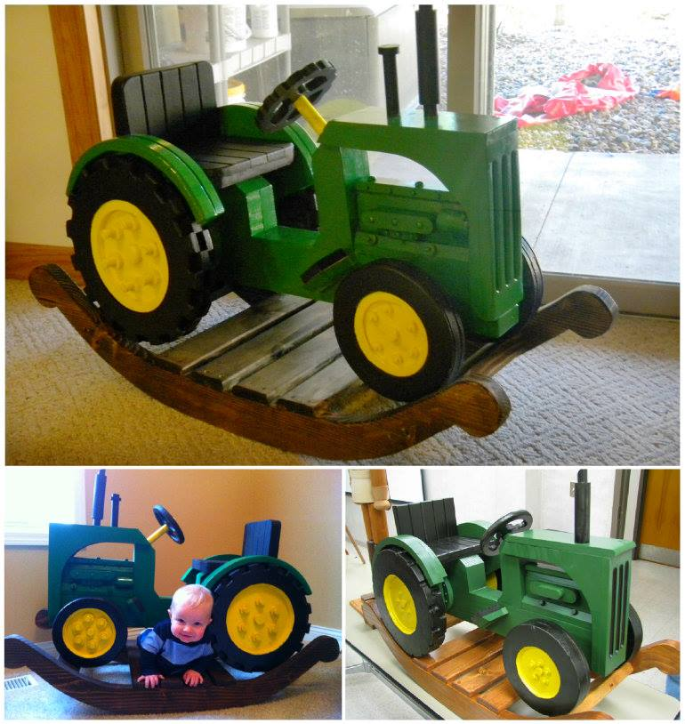 John Deere Rocking Tractor wonderfuldiy Incredible DIY John Deer Rocking Tractor