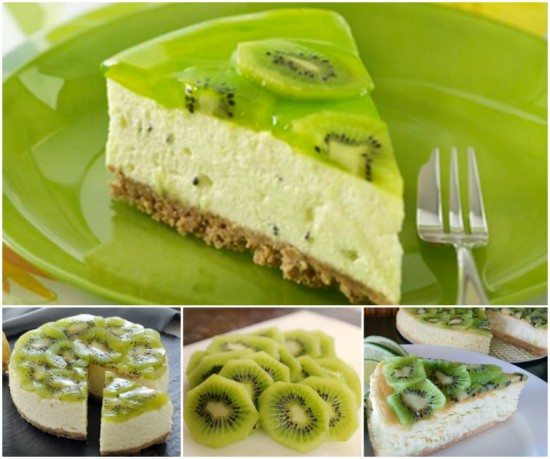 Kiwi Fruit Cheesecake wonerfuldiy Wonderful DIY Kiwi Fruit Cheesecake