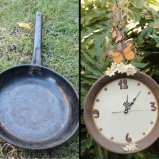 Wonderful DIY Easy Clock Decoration From Old Cooking Pan