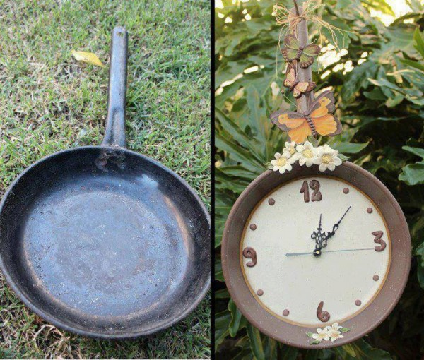 Make A Clock From A Cooking Pan wonderfuldiy Wonderful DIY Easy Clock Decoration From Old Cooking Pan