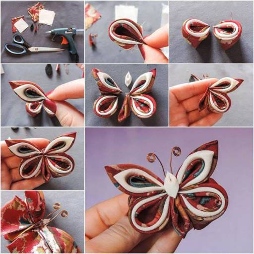 Make Beautiful Butterfly wonderfuldiy Wonderful DIY Beautiful Fabric Butterfly