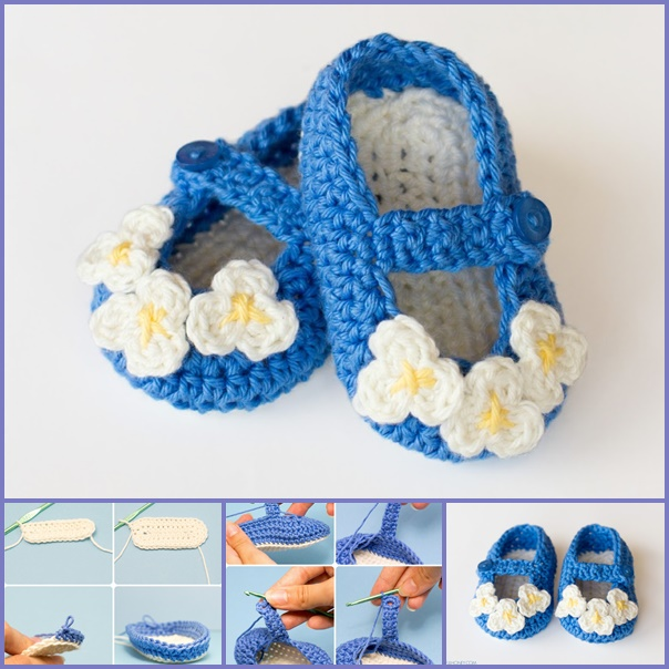 Mary Jane Baby Booties  crochet pattern-wonderfuldiy f