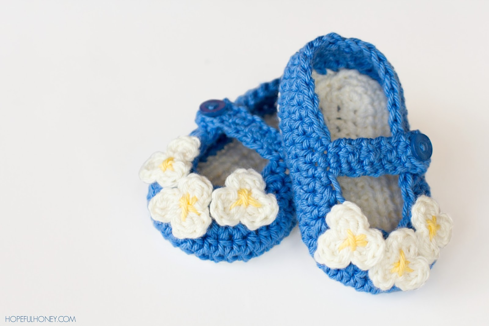 Mary Jane Baby Booties  crochet pattern-wonderfuldiy1
