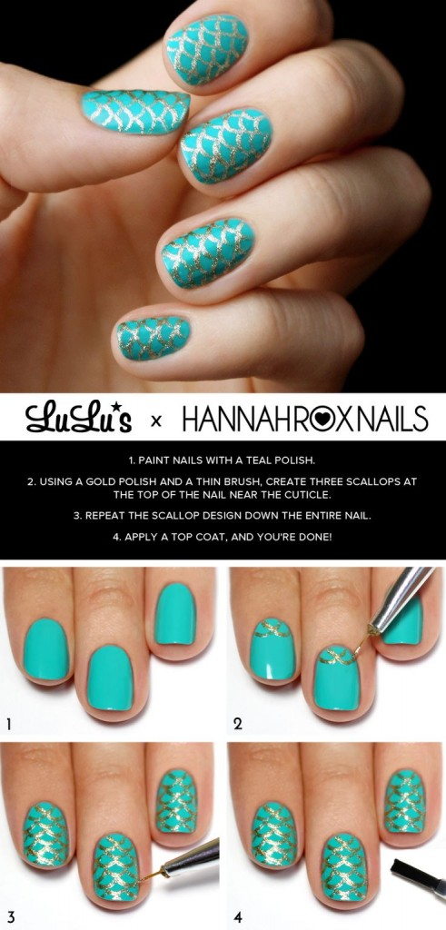 Mermaid-Nail-Art-wonderfuldiy4