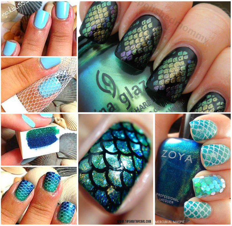 30 classic mermaid nails art design view in gallery mermaid nails wonderfuldiy 30 classic mermaid nails art design solutioingenieria Gallery