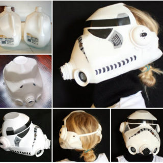 Wonderful DIY Milk Jug Stormtrooper Helmet for Kids