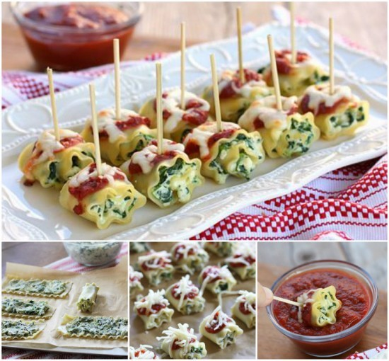 Mini Spinach Lasagna Roll Ups wonderfuldiy Wonderful DIY Spinach Lasagna Roll ups