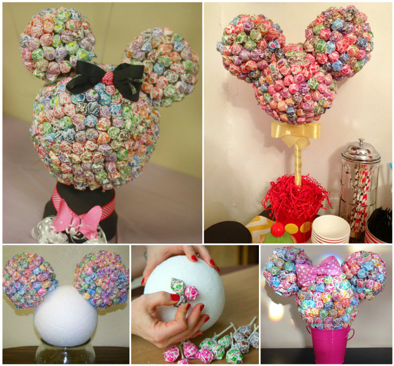 wonderful diy minnie mouse lollipop tree
