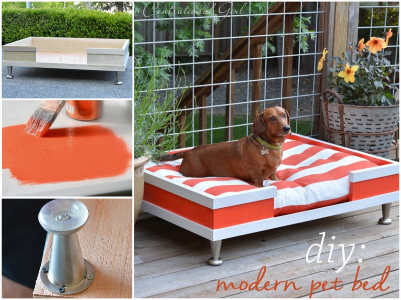 Modern-Wood-Pet-Bed-wonderfuldiy