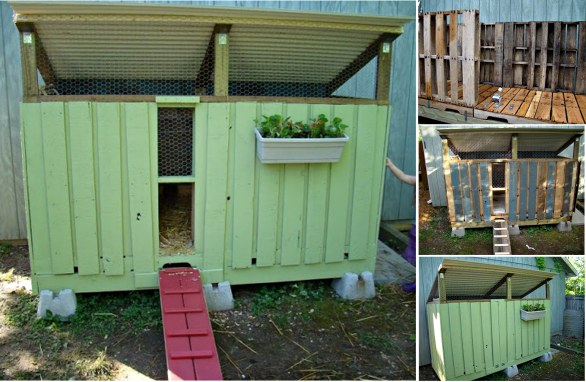 Wonderful diy recycled chicken coops for Build your own duck house