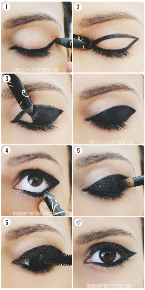 Party-makeup-Tutorial-for-Brown-or-Black-eyes