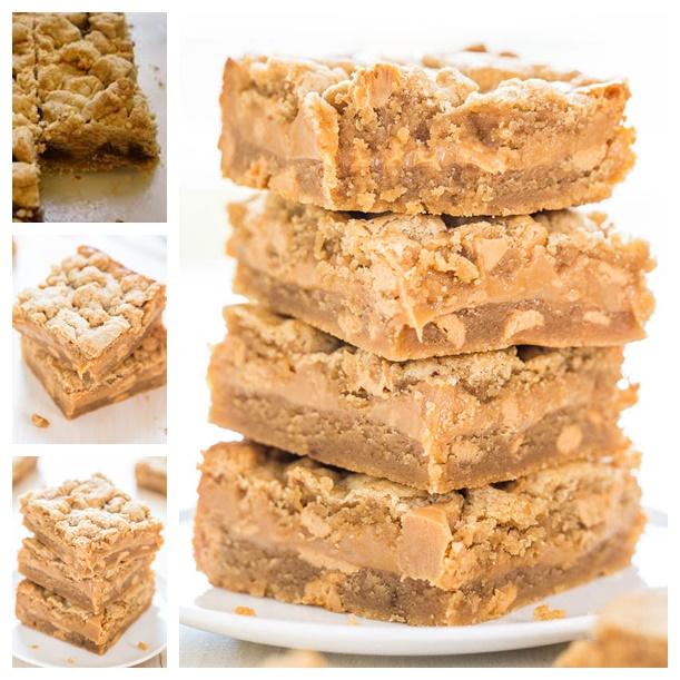 Peanut Butter Sandwich Cookie Bars recipe wonderfuldiy Wonderful DIY Peanut Butter Sandwich Cookie Bars