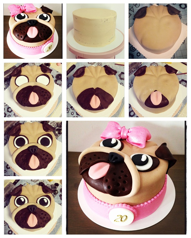 Pug Cake 1 Wonderful DIY Cute Pug Cake