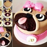 Wonderful DIY Cute Pug Cake