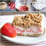 Wonderful DIY No Bake Frozen Strawberry Crunch Cake
