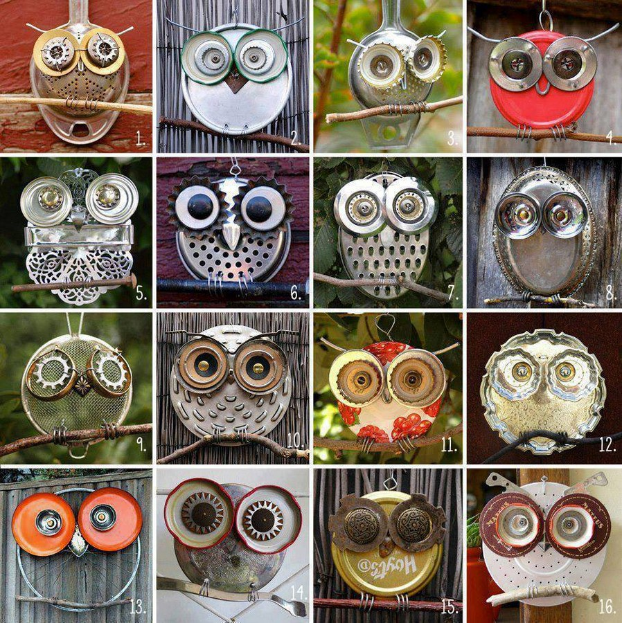 Recycled-Owl-Art