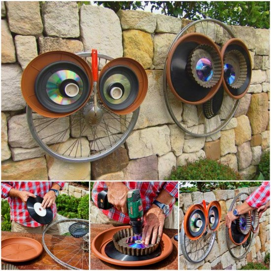 Wonderful Diy Recycled Lid Owls