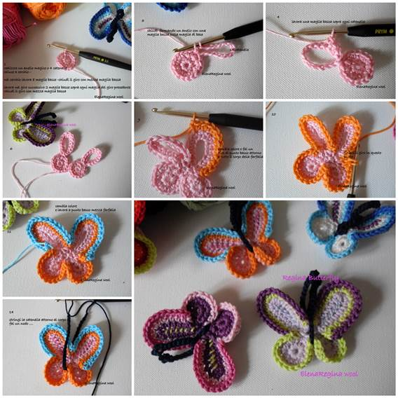 Easy To Make Crochet Queen Butterfly With Video Tutorial