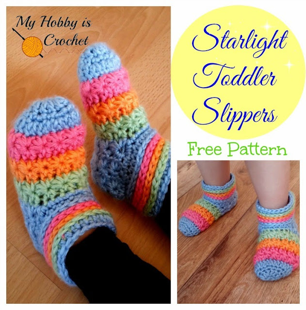 Starlight Toddler Slippers Free Crochet Pattern1 Wonderful DIY Crochet Starlight Slippers with Free Pattern