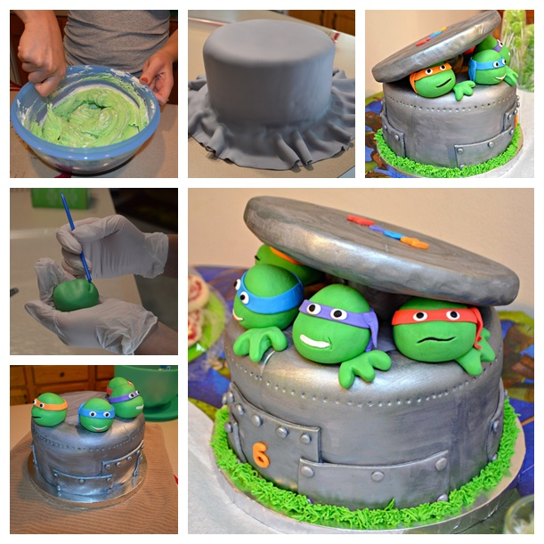 Teenage Mutant Ninja Turtle Cake wonderfuldiy2 Wonderful DIY Ninja Turtle Cake