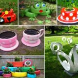 Inspiring Teacup Tyre Planters for Your Garden