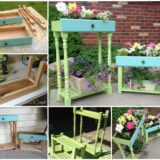 Wonderful DIY Recycled Drawer Planter