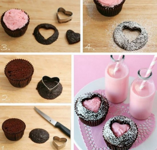 Valentine-Hearth Cupcakes-wonderfuldiy