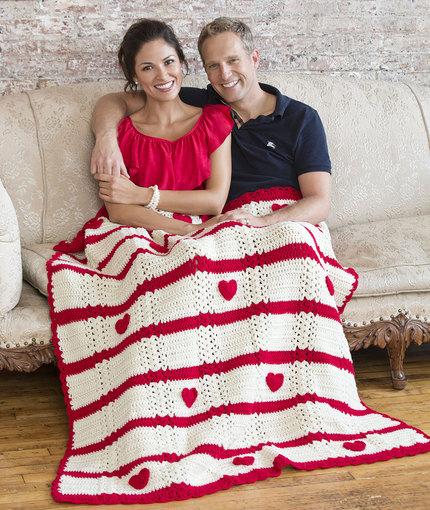 Valentine Throw Crochet Pattern -wonderfuldiy