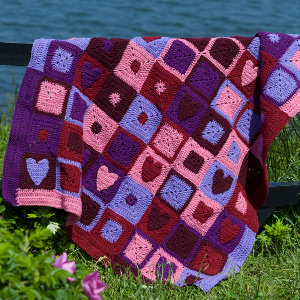 Valentine Throw afghan Crochet Pattern -wonderfuldiy
