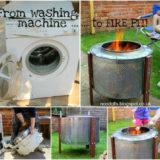Wonderful DIY Fire pit from Washing Machine