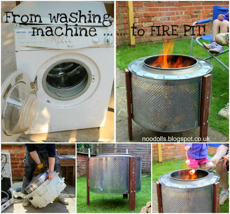 Washing Machine Drum Fire Pit wonderfuldiy Wonderful DIY Fire pit from Washing Machine